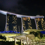 marina bay sand evening 1